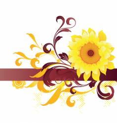 flower graphic background vector image