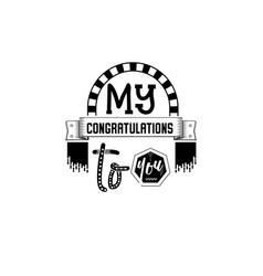 My congratulations to you banner badge for a vector