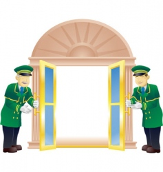 Doormen vector