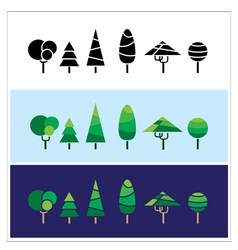 Mini trees vector