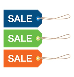 Sale sign set vector