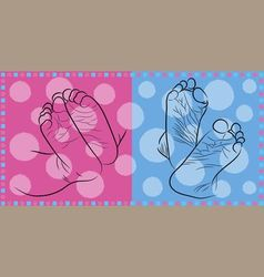 Feet newborn vector