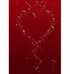valentines day bubbles vector image