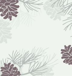 Pinecone Background vector image