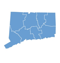 State map of connecticut by counties vector