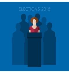 Concept of election debates vector