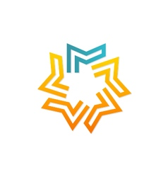 Geometry star logo vector