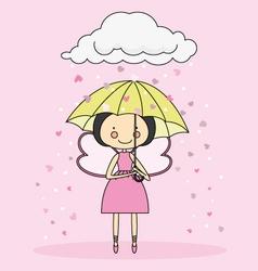 Fairy with an umbrella vector image
