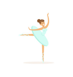 actress of ballet theater dancing classical dance vector image vector image