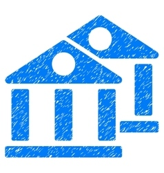 Banks grainy texture icon vector