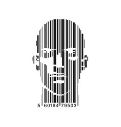 barcode male vector image vector image