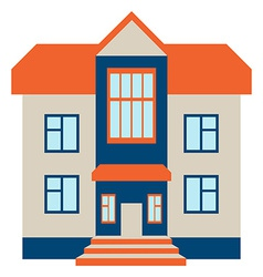 Big House Isolated on White Beckground vector image