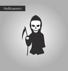 Black and white style icon of halloween death vector