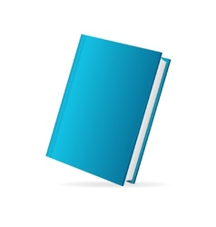 book cover blue perspective vector image vector image