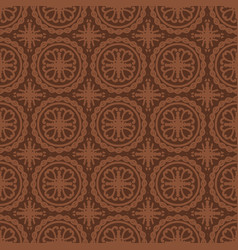 brown seamless pattern background vector image vector image