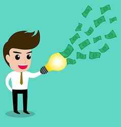 Business man idea money2 vector image