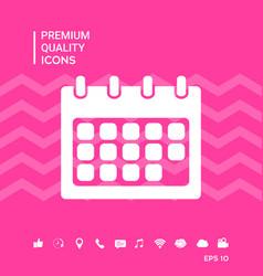Calendar symbol icon vector