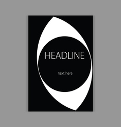 Design headline cover black vector