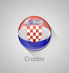 European flags set - croatia vector