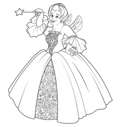 Fairy godmother making a wish vector