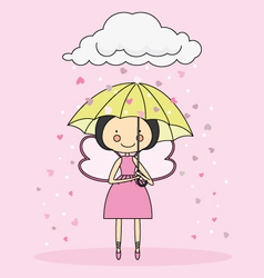 Fairy with an umbrella vector image