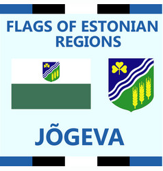 Flag of estonian region jogeva vector
