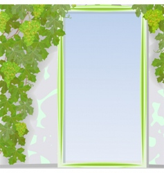 grape door frame vector image vector image