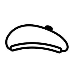 hat retro style beret vector image