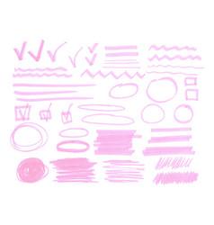 highlighter marks set vector image vector image