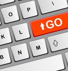 Key GO vector image