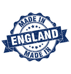 made in england round seal vector image