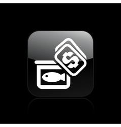 market fish icon vector image vector image