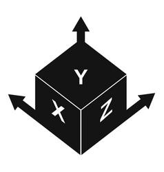 Measurement cube square icon simple style vector
