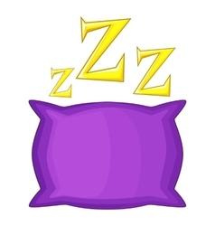 Pillow icon cartoon style vector
