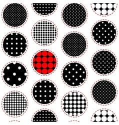 Polka dot patchwork pattern vector image