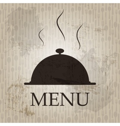 Restaurant menu template in grunge retro style vector image vector image