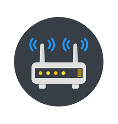 router modem icon in flat style vector image