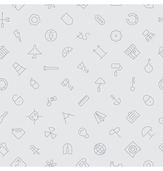 Seamless icons industrial background vector
