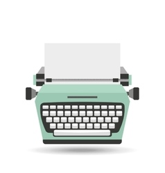 typewriter machine design vector image