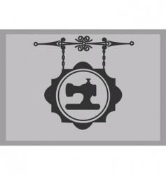 vintage seamstress signs vector image