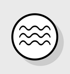 Waves sign flat black icon vector
