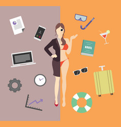 Work and life balance vector