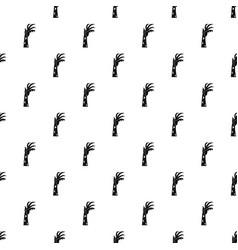 Zombie hand pattern vector
