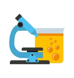 Tube test laboratory experiment icon vector
