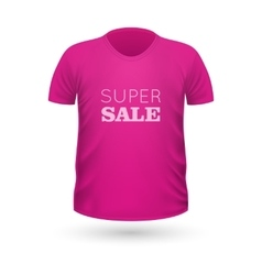 Super sale pink t-shirt isolated on white vector