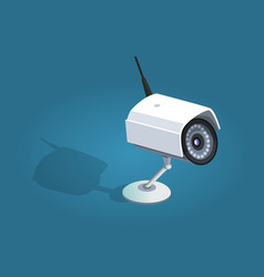 Surveillance camera safety home protection system vector