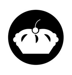 Delicious pie isolated icon vector