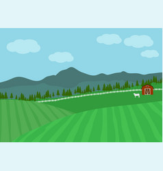 countryside farm vector image