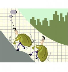 man and graph vector image