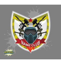 Paintball logo emblem paintball guns and wings vector